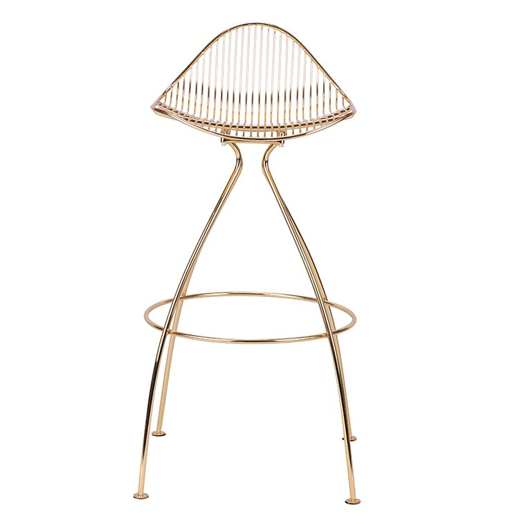 2019 New Design Gold Wire Bar Stool