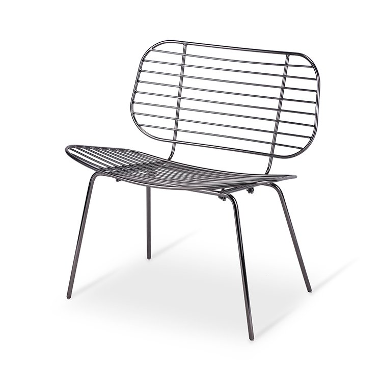 Balcony Leisure Chair  Metal Wire Recliner Lounge Chair