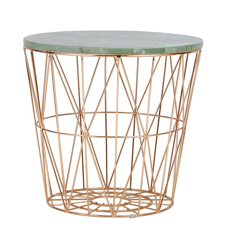 Modern Marble Top Side Table For Living Room