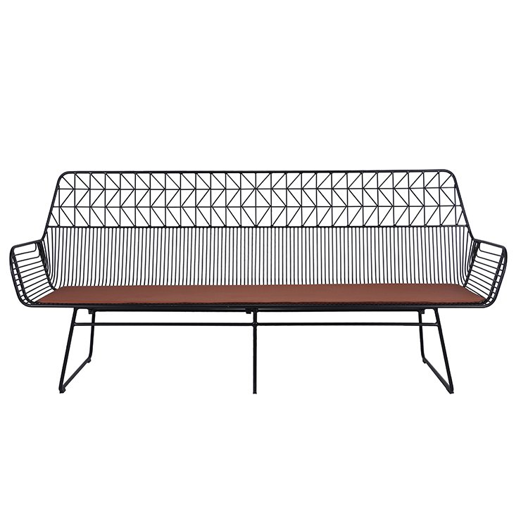 Luxury Metal Wire-sofa 3 Seater Sofa For Living Room Or Outdoor