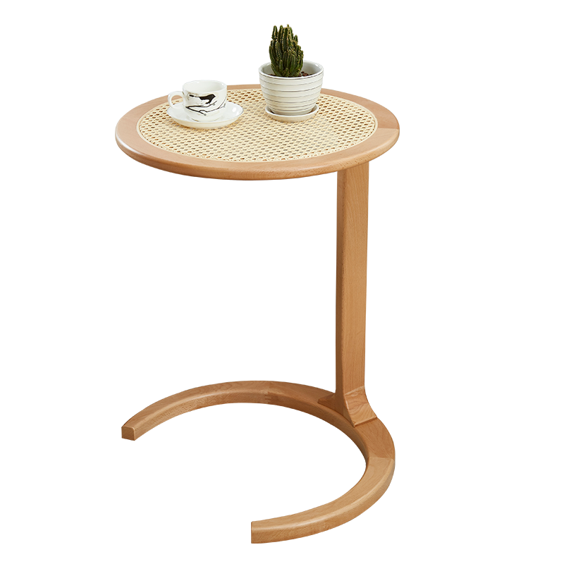 Wooden Modern Natural Rattan Table For Living Room